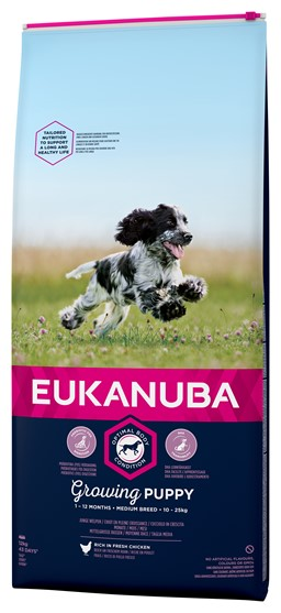 EUKANUBA PUPPY MEDIUM HUNDEFODER